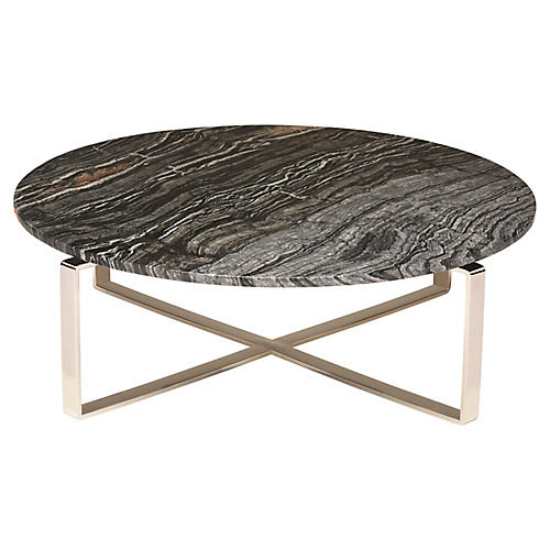 Rosa Coffee Table, Black/Silver