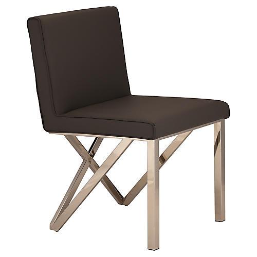 Talbot Side Chair, Black/Silver