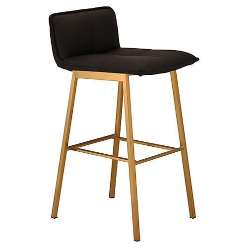 Sabrina Counter Stool, Black/Gold