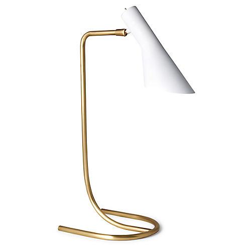 Penelope Task Lamp, White