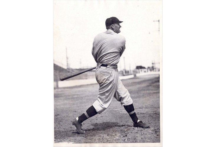 Press Photo, Walter Johnson batting