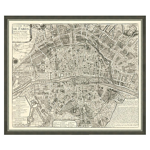 Black & White Paris Map
