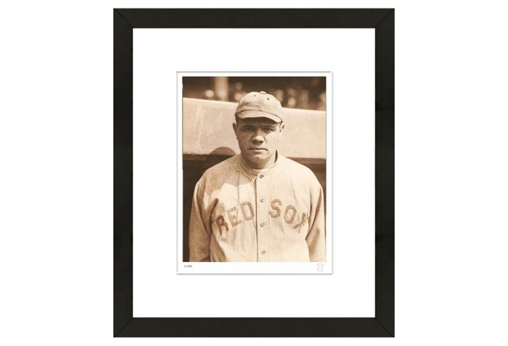 Babe Ruth Rookie-Era Press Photo