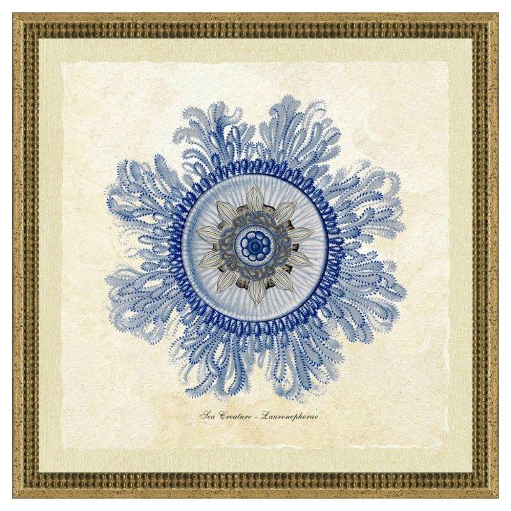Blue Jellyfish Print I