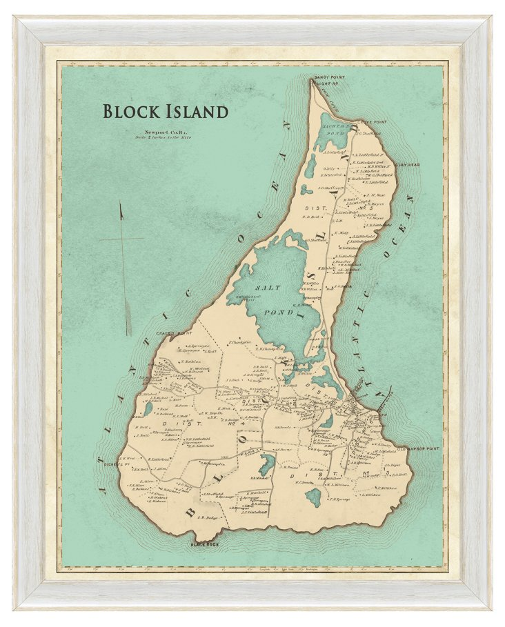 Map of Block Island