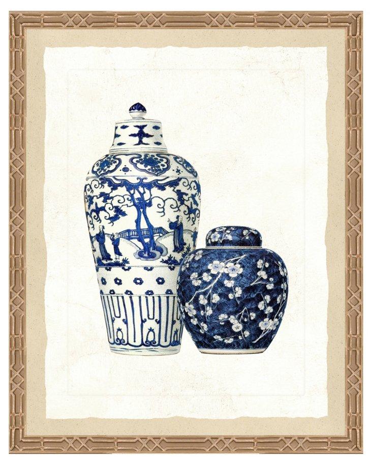 Blue Porcelain Print I