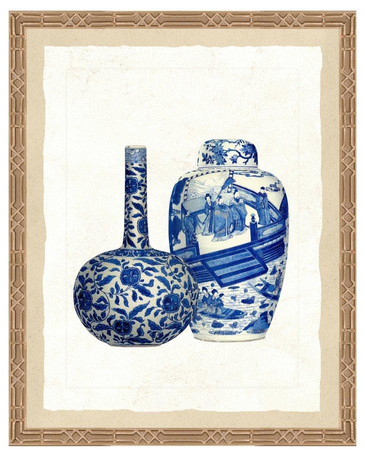 18x22, Blue Porcelain Print II