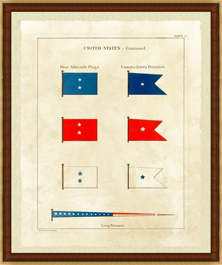 Nautical United States Flag Print II