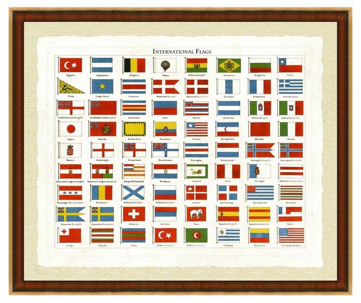 International Flag Print