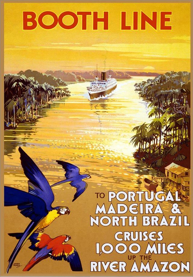 Portugal, Madeira & Brazil Travel Poster