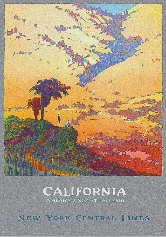 California Framed Travel Poster