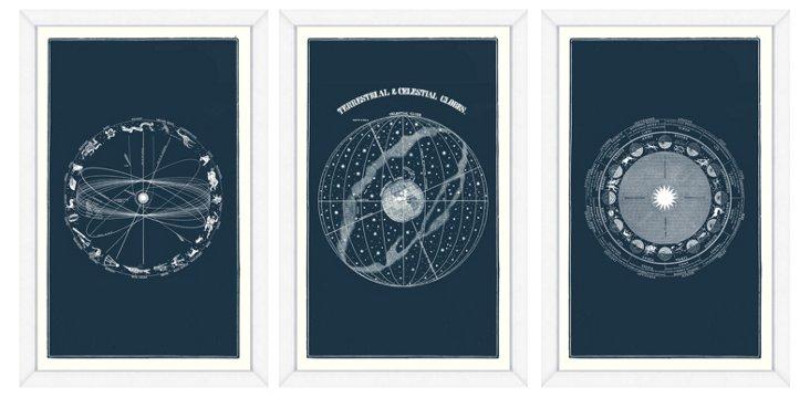 Celestial Prints Triptych