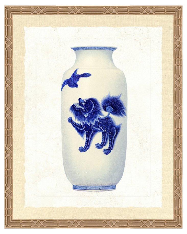 Ornate Silver Framed Vase Print