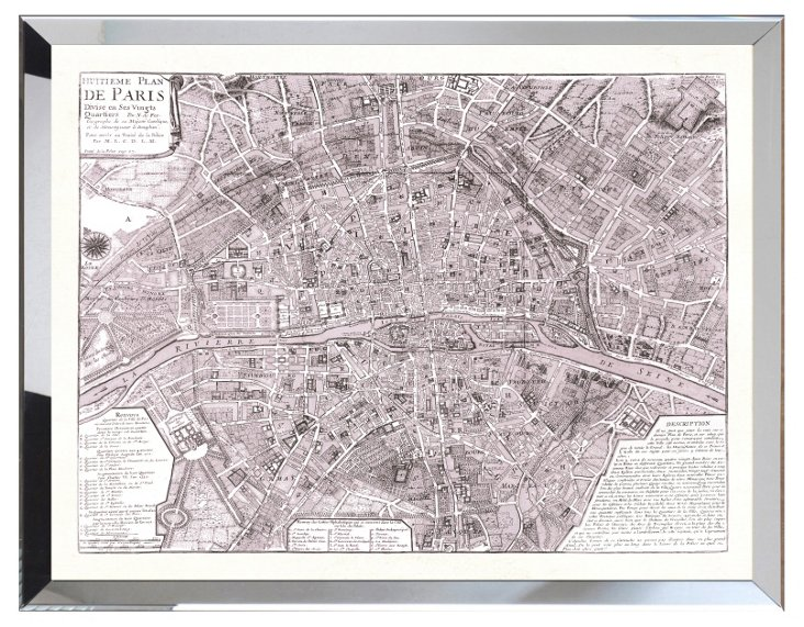 Map Of Lavender Paris