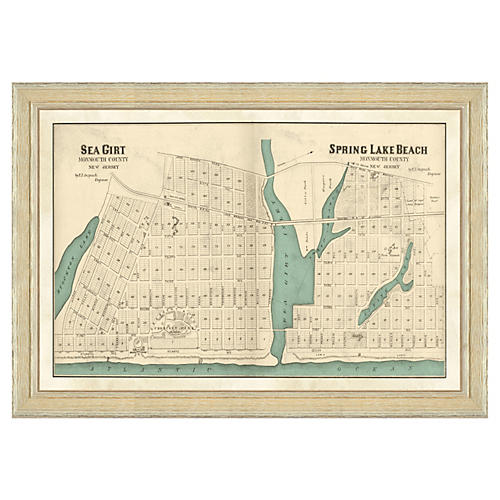 Sea Girt & Spring Lake Beach Map
