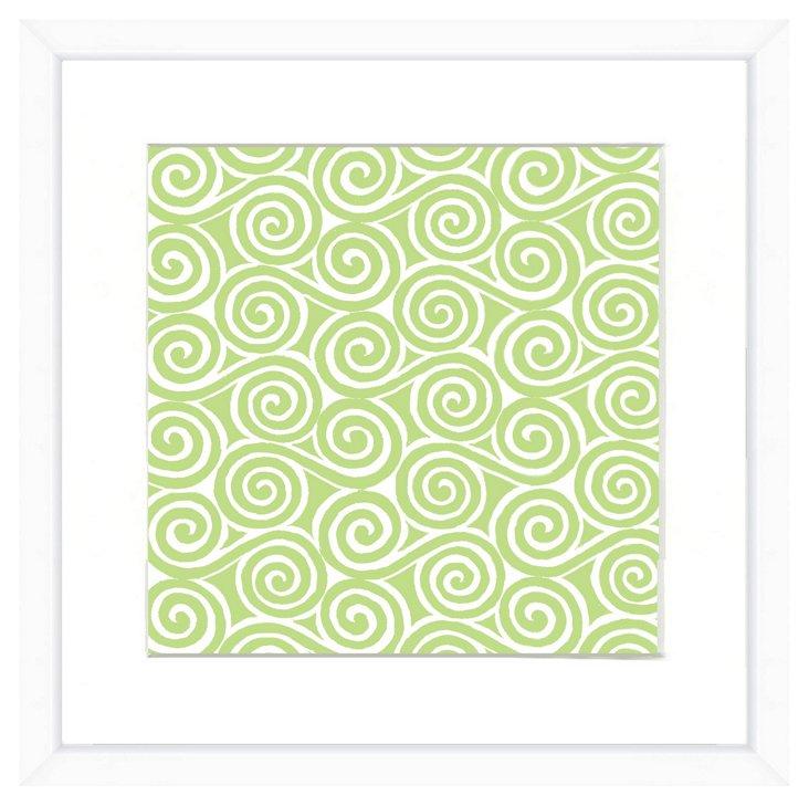 White Framed Pattern Print III