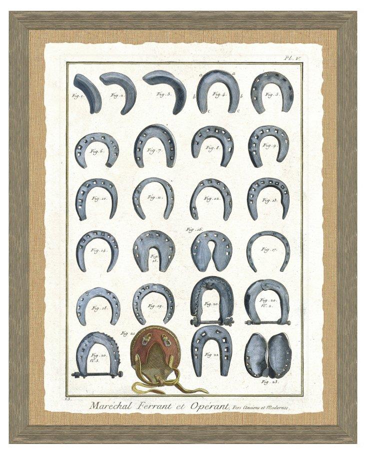Barn Wood Framed Horseshoe Print II