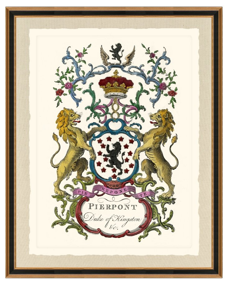 Black and Gold Framed Heraldry Print II