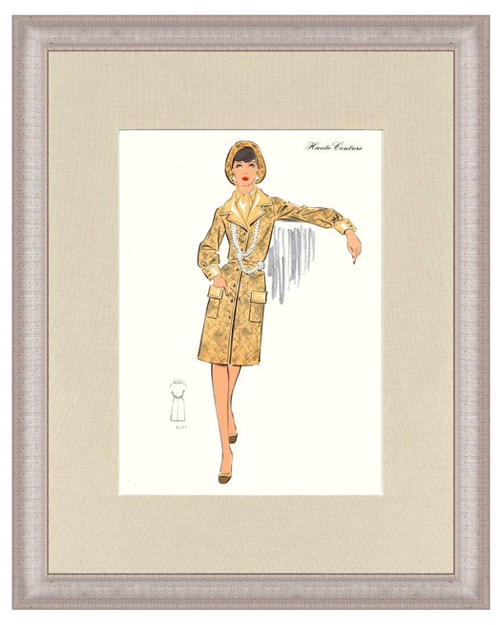 Silver Framed Fashion Print I