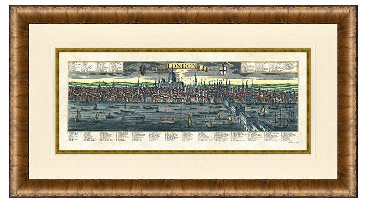 Wood Framed London View Print