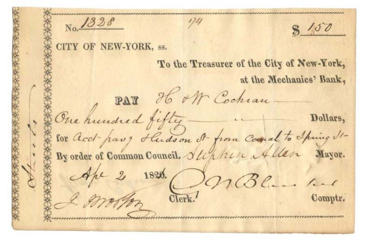 Founder of NYStock Exchange, Signed