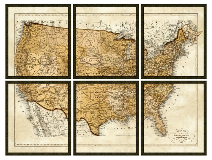 Map of the United States, Set of 6