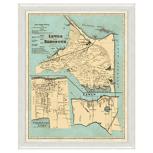 Map of Lewes and Rehoboth