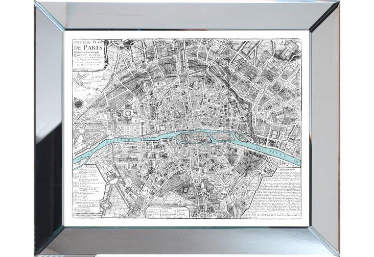 Gray Paris Map