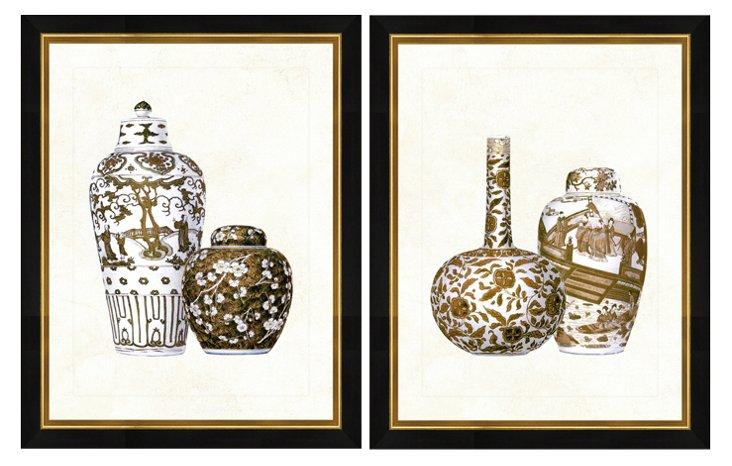 Sepia Vase Print Set