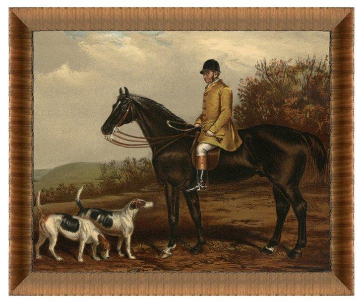 Horse and Rider Print I