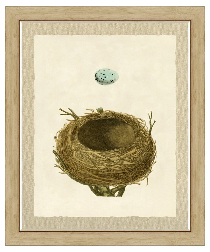 Nest and Egg Print I