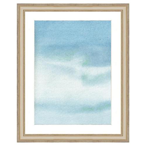Blue Watercolor Print I