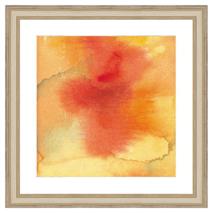 Orange Watercolor Print I