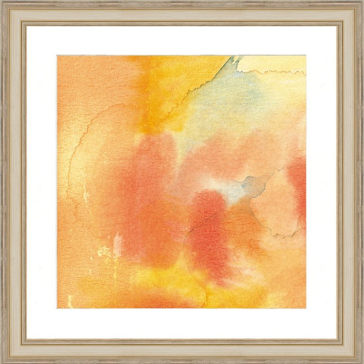 Watercolor Orange Abstract Print II