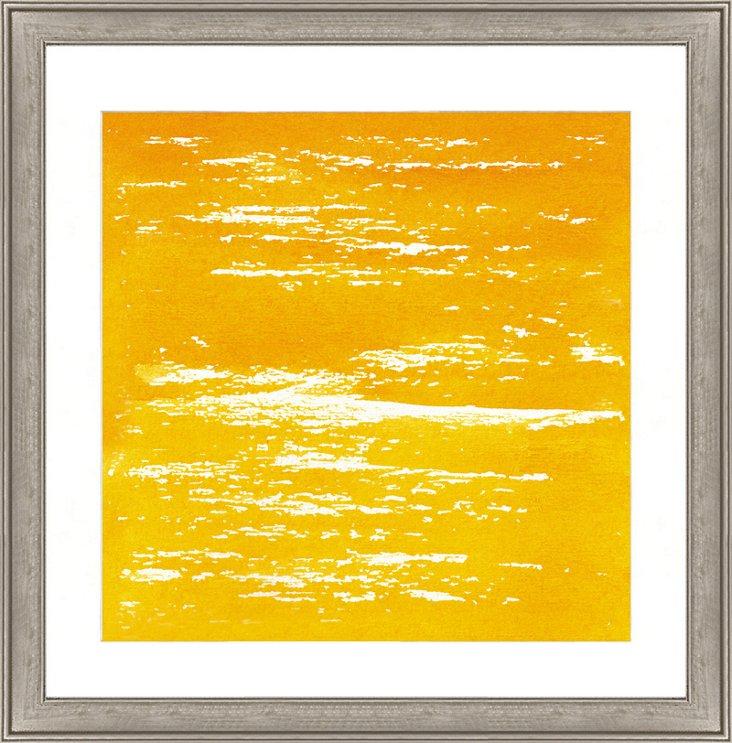 Yellow Watercolor Print