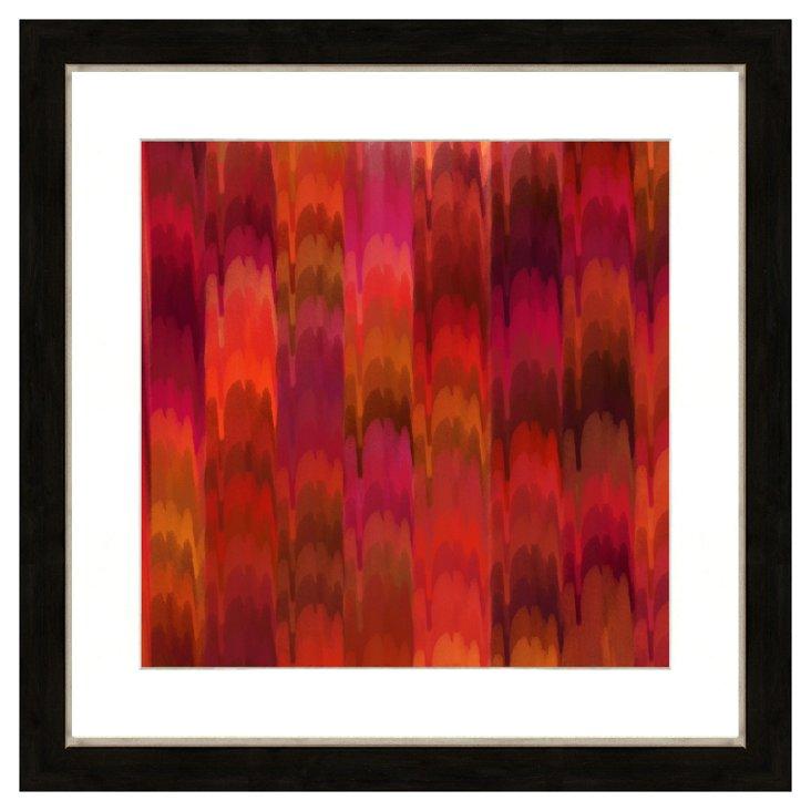 Red Pattern Print I