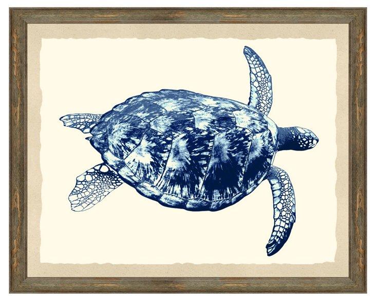 Navy Turtle Print
