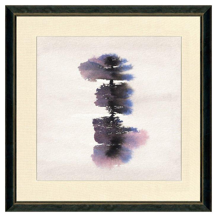 Black Framed Watercolor Print II