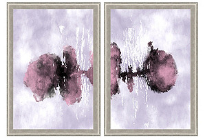 Purple Watercolor Ink Diptych*