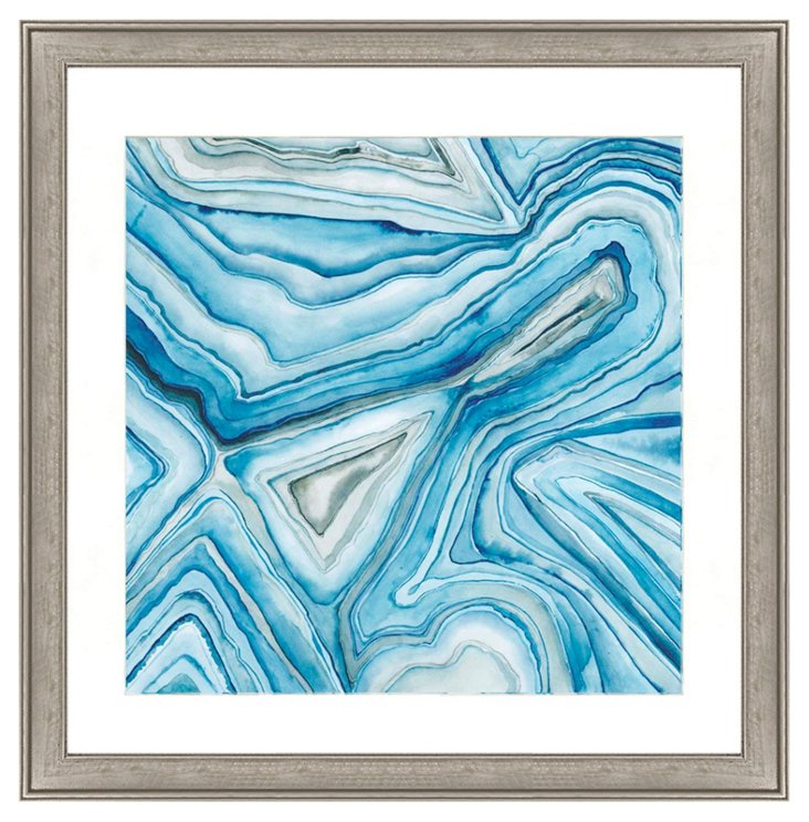 Blue Agate Abstract I