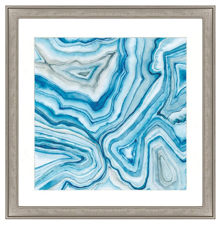 Blue Agate Abstract II