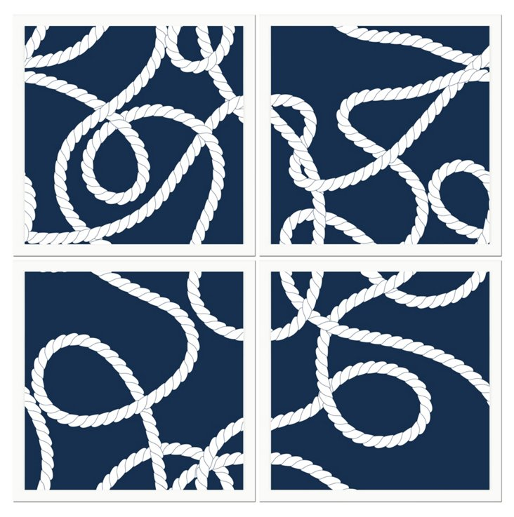 Four-Piece Boat Knot Print