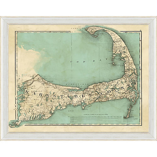 Teal Cape Cod Map