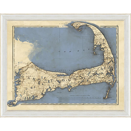 Blue Cape Cod Map