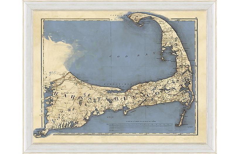 Blue Cape Cod Map