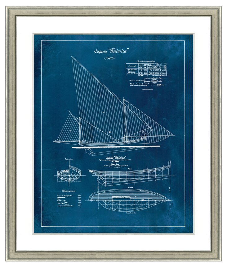 Sailboat Blueprint I
