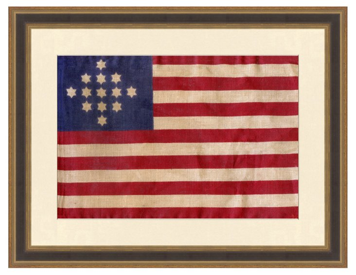 Thirteen Star American Flag Print