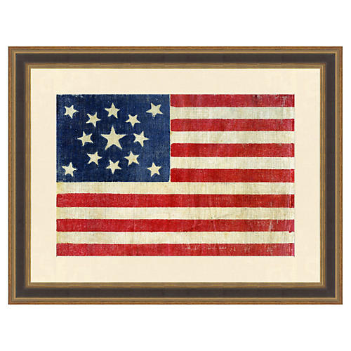 Centennial Thirteen Star American Flag