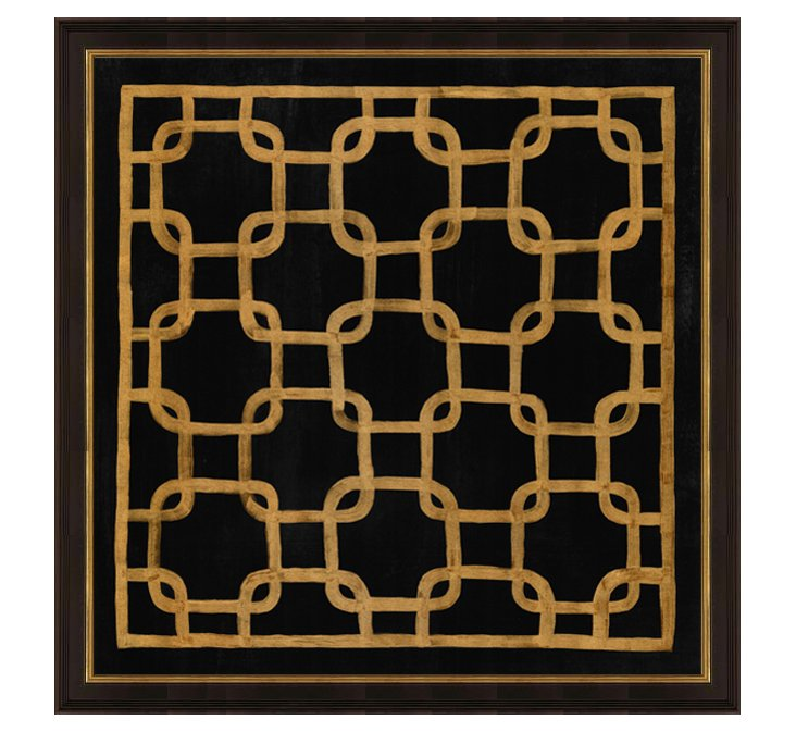 Gold and Black Pattern III