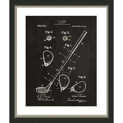 Golf Patent Print